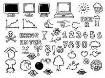 De pictogrammen van PC Stock Foto
