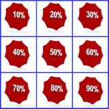 De pictogrammen van percenten Stock Afbeelding