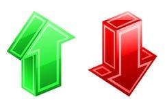 De pictogrammen van pijlen Stock Foto's