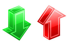 De pictogrammen van pijlen Royalty-vrije Stock Afbeelding