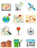 De pictogrammen van plaatsen Stock Foto