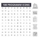 De pictogrammen van de Programmlijn, tekens, vectorreeks, het concept van de overzichtsillustratie royalty-vrije illustratie