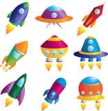 De pictogrammen van raketten Stock Afbeelding