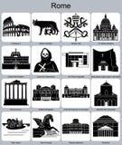 De pictogrammen van Rome Royalty-vrije Stock Afbeeldingen