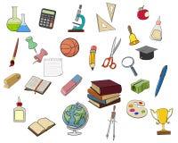 De pictogrammen van de schoolkrabbel Royalty-vrije Stock Fotografie