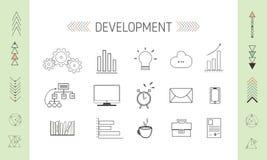 De Pictogrammen van SEO en Developmrent- Stock Foto