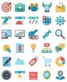 De Pictogrammen van SEO en Marketing Vector Illustratie