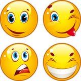 De pictogrammen van Smiley Stock Afbeeldingen