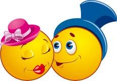 De pictogrammen van Smiley. LIEFDE Royalty-vrije Stock Foto's