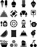 De pictogrammen van snoepjes Royalty-vrije Stock Afbeelding