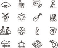 De pictogrammen van Spanje Royalty-vrije Stock Foto's