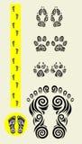 De pictogrammen van spoorvoeten Royalty-vrije Stock Fotografie