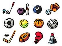 De pictogrammen van sporten Vector Illustratie
