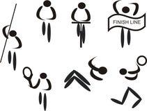 De pictogrammen van sporten Royalty-vrije Stock Afbeeldingen