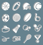 De pictogrammen van sporten Royalty-vrije Stock Foto's