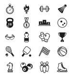 De pictogrammen van sporten punten, inventaris vector illustratie