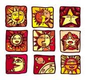 De pictogrammen van sterren Royalty-vrije Stock Foto's