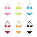 De pictogrammen van Swimwear Royalty-vrije Stock Afbeeldingen