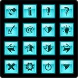 De pictogrammen van tekens Royalty-vrije Stock Foto