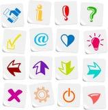 De pictogrammen van tekens Royalty-vrije Stock Afbeelding