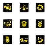 De pictogrammen van telefoonpictogrammen Stock Afbeelding