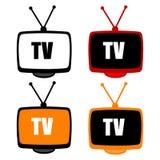 De pictogrammen van TV Royalty-vrije Stock Fotografie