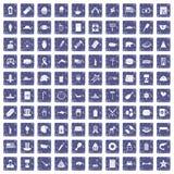 100 de pictogrammen van de V.S. geplaatst grunge saffier Royalty-vrije Stock Fotografie