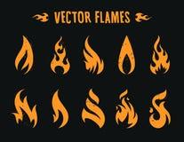De Pictogrammen van de Vecstorbrand Royalty-vrije Stock Foto's