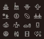 De pictogrammen van Verenigde Staten Stock Foto