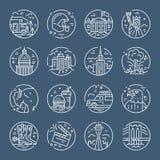 De pictogrammen van Verenigde Staten stock illustratie