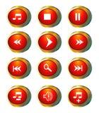 De pictogrammen van verschillende media Royalty-vrije Stock Fotografie