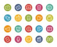 De Pictogrammen van verschillende media -- Printempsreeks Royalty-vrije Stock Foto's