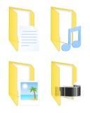 De Pictogrammen van verschillende media Vector illustratie Stock Afbeelding