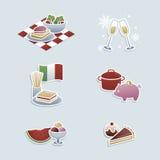 De pictogrammen van voedselconcepten vector illustratie