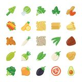 De Pictogrammen van voedselingrediënten Royalty-vrije Stock Foto's
