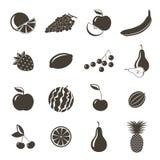 De pictogrammen van vruchten Stock Fotografie