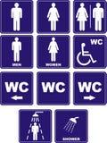 De pictogrammen van WC Royalty-vrije Stock Afbeelding