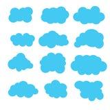 De pictogrammen van wolken Stock Foto's