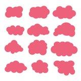 De pictogrammen van wolken Stock Fotografie