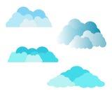 De pictogrammen van wolken Royalty-vrije Stock Foto's