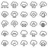 De pictogrammen van de wolkentechnologie Royalty-vrije Stock Afbeeldingen
