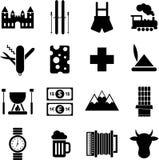 De pictogrammen van Zwitserland Royalty-vrije Stock Afbeeldingen