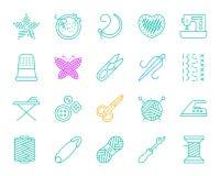 De pictogrammen vectorreeks van de handwerk eenvoudige rassenbarrière vector illustratie
