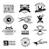 De pictogrammen vectorreeks van het sushiembleem Royalty-vrije Stock Foto