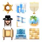De pictogrammen vectorreeks van Israël stock illustratie