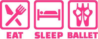 De pictogrammen voor eten slaapballet royalty-vrije illustratie