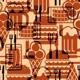 De pictogrammenachtergrond van het voedsel Stock Afbeelding