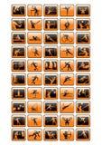 De inzameling van sportpictogrammen - vecto Stock Afbeeldingen