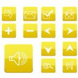 De pictogrammeninzameling van het Web royalty-vrije illustratie