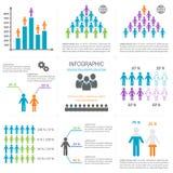 De pictogrammeninzameling van Infographicmensen Royalty-vrije Stock Foto